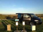 Campingplatz mit Blick aufs Rantumer Becken
