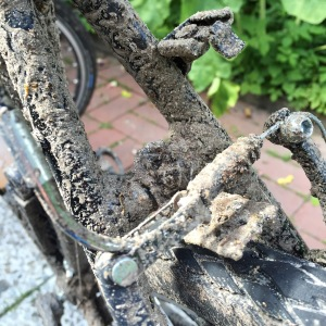 Das verdreckte Fahrrad